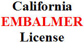 study guide for California Embalmer License test