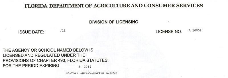 florida private investigator license test