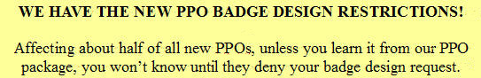 PPO badge design approval