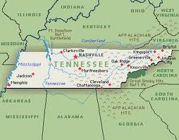 Tennessee private investigator map